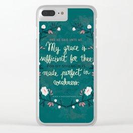 2 Corinthians12:9 Clear iPhone Case
