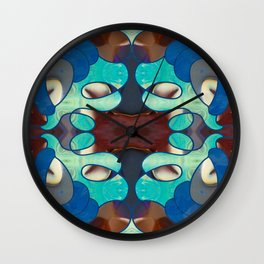 Inspired Blues Abstract Art By Omashte Wall Clock