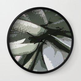 Aloe Vera Details Abstract Wall Clock