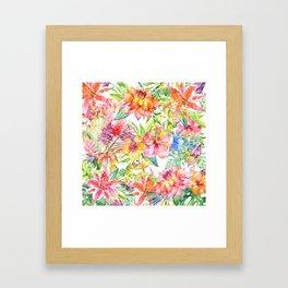 Tropical Burst Framed Art Print