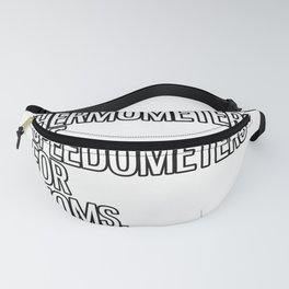 Speedometer Atom Physics Thermometer Fanny Pack