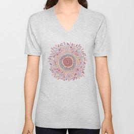 Sunflower Mandala Unisex V-Neck