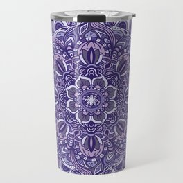 Great Purple Mandala Travel Mug