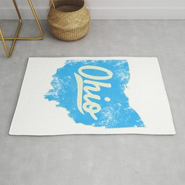 Ohio Gift I Love My Ohio Home Cleveland Cincinnati Akron OH Rug