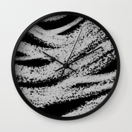 Halftone brush print Wall Clock