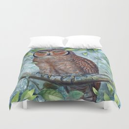 Forest Owl Duvet Cover
