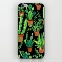 cacti iPhone & iPod Skins featuring Cacti by Sian Keegan