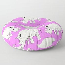Vintage Rhino Pattern Floor Pillow