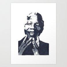 Nelson 'Madiba' Mandela Art Print
