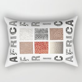 Africa - background with text and texture wild animal Rectangular Pillow