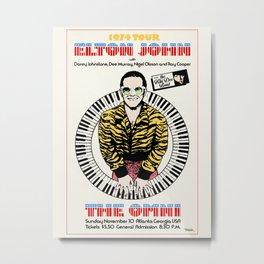 Elton 1974 John Concert Metal Print