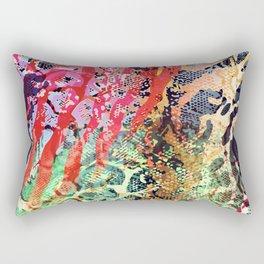 skin mesh in red mood Rectangular Pillow