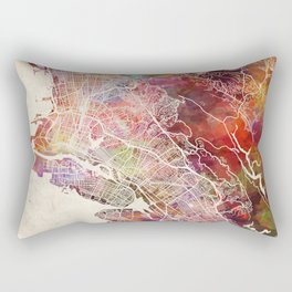 Oakland map Rectangular Pillow
