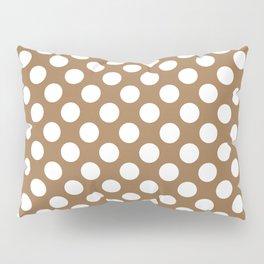 Brown and white polka dots Pillow Sham