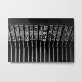 Old Typewriter Keys Metal Print