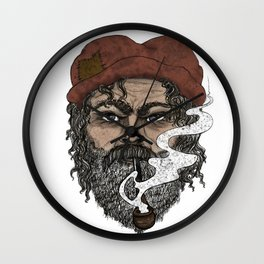 The Eyes of a Sailor Man Wall Clock