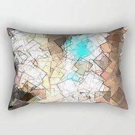 square fantasy ancient structure Rectangular Pillow