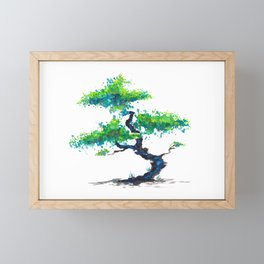 Blue Bonsai Framed Mini Art Print