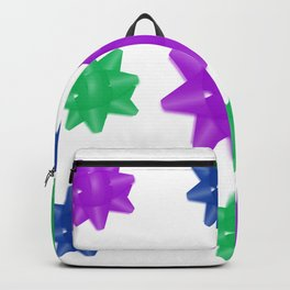 Cool Color Bows with Transparent Background Backpack