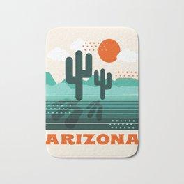 Arizona - retro 70s 1970's sun desert southwest usa throwback minimal design Bath Mat