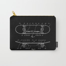 Skateboard Schematics Carry-All Pouch
