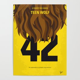 No607 My Teen Wolf minimal movie poster Poster