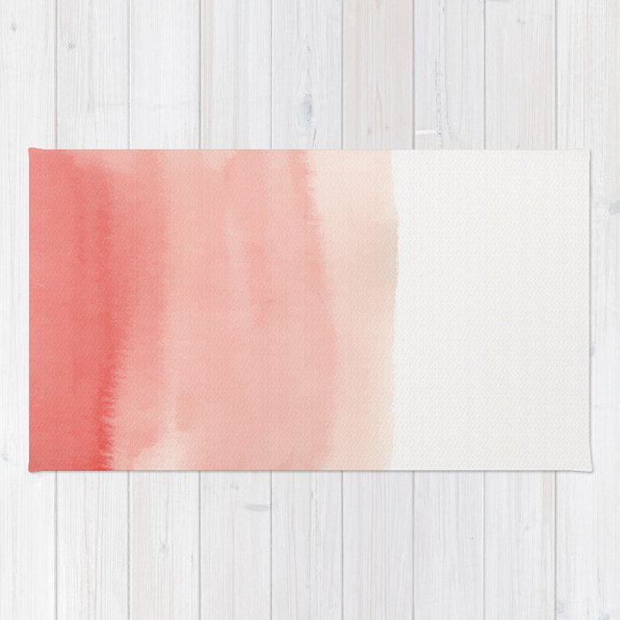 Watercolor Pink Ombre Rug