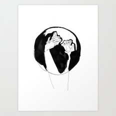 moonlight hands Art Print