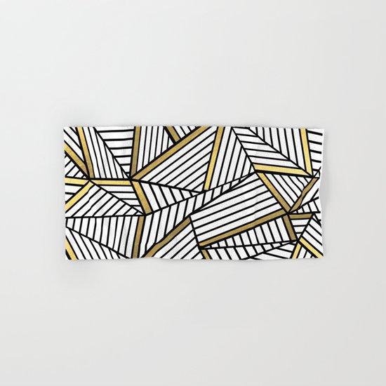 Ab Lines 2 White Gold Hand & Bath Towel