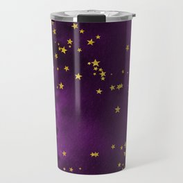 Purple Star Galaxy Travel Mug