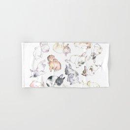 Sleepy French Bulldog Puppies Hand & Bath Towel