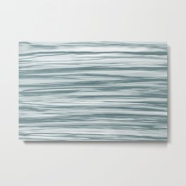 Blue-Green Watercolor Blend 2021 Color of the Year Aegean Teal 2136-40 Aqua Metal Print
