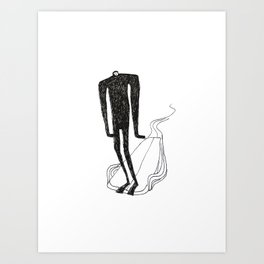 Nose rider Art Print