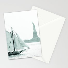 Statue of Liberty with Schooner Stationery Cards