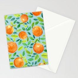 Citrus Blue Stationery Cards