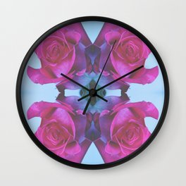 Summer Roses 2012 Wall Clock