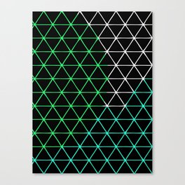 Colored Triangels  Canvas Print