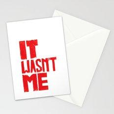 It wasn't me Sienfeld quote  - by Genu WORDISIAC™ TYPOGY™ Stationery Cards