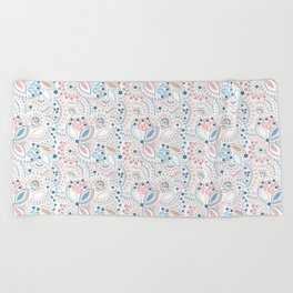 Retro , polka dot Beach Towel