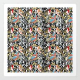 Birds and Trees Art Print