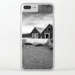 Iceland Shacks Clear iPhone Case