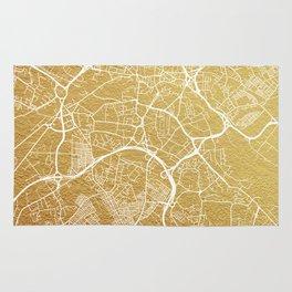 Gold Leeds map Rug