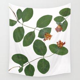 Honeysuckle Botanical Floral Print Wall Tapestry