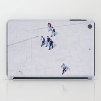 oslo iPad Cases featuring Pedestrians in Oslo by Tracy Zhang