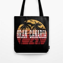 Gran Canaria Palm Trees Holiday Motif Gift Idea Tote Bag