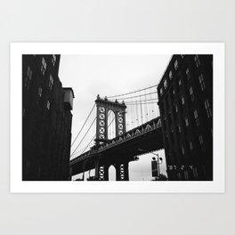 Brooklyn Bridge on Film Art Print