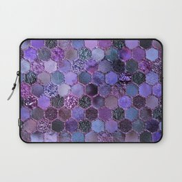 Purple geometric hexagonal elegant & luxury pattern Laptop Sleeve