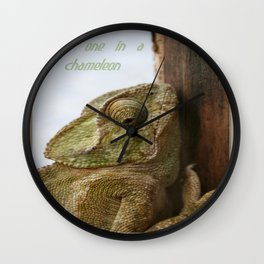 You're One In A Chameleon Wall Clock