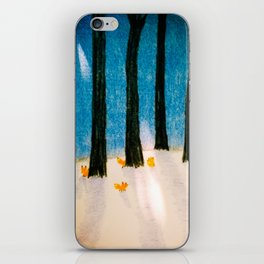 Foxs in the Forest iPhone Skin