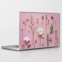 cassia beck Laptop & iPad Skins featuring Wild Flowers by Cassia Beck